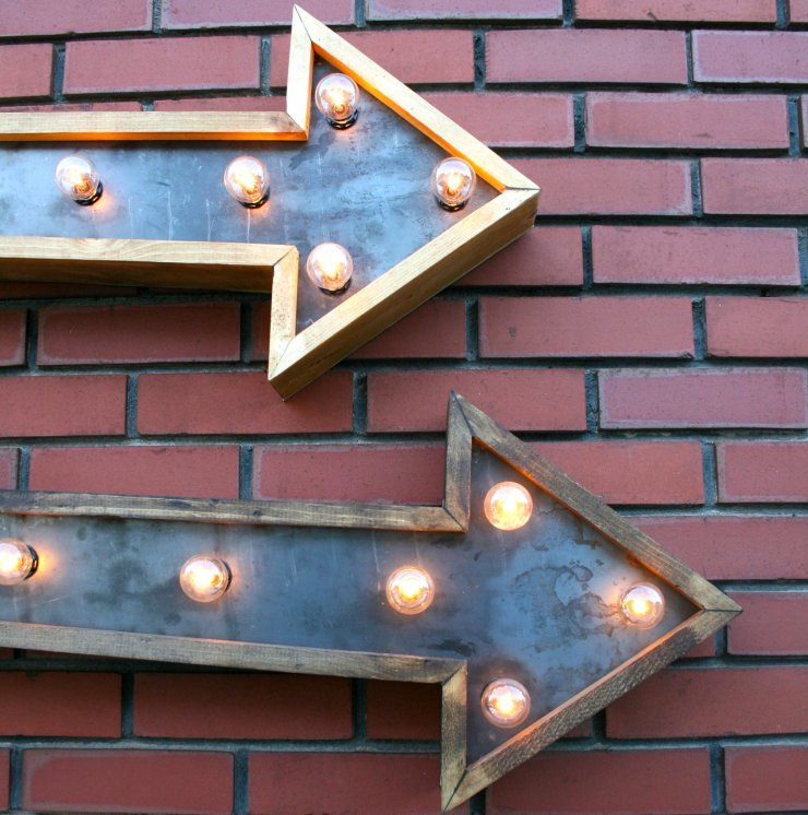marquee lights- bricks