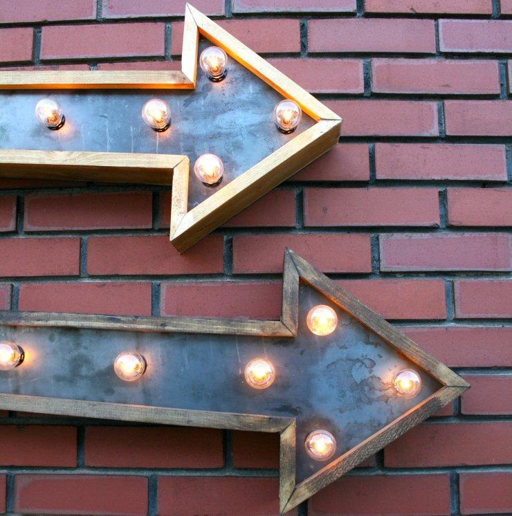 marquee lights- bricks