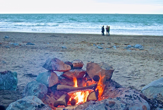 Muir Beach Bonfire