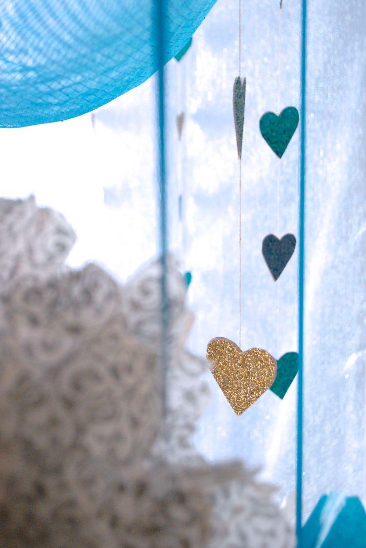 Glitter Bridal Shower Cieling decorations