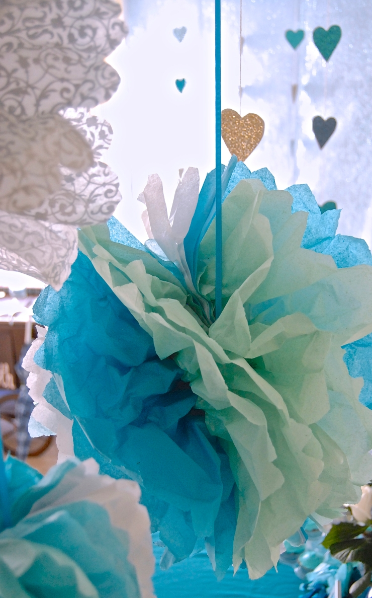 Glitter Bridal Shower decorations